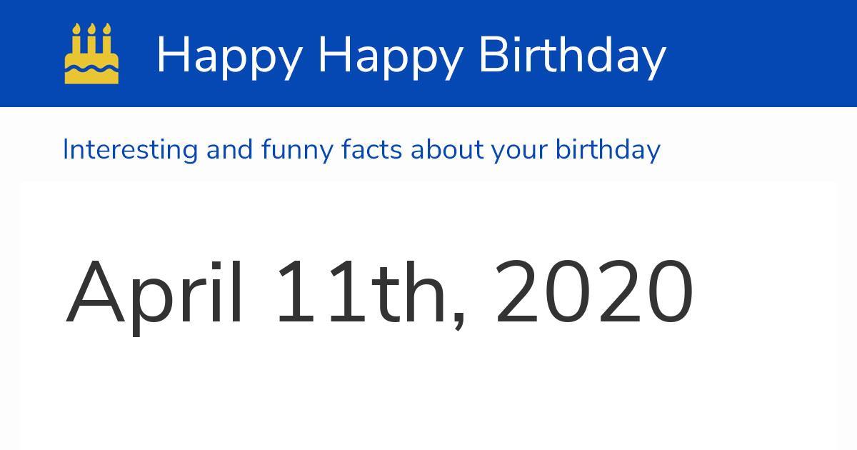 4pm saturday 11th april 2020