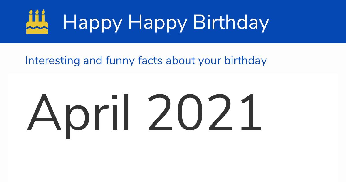 24 April 2021