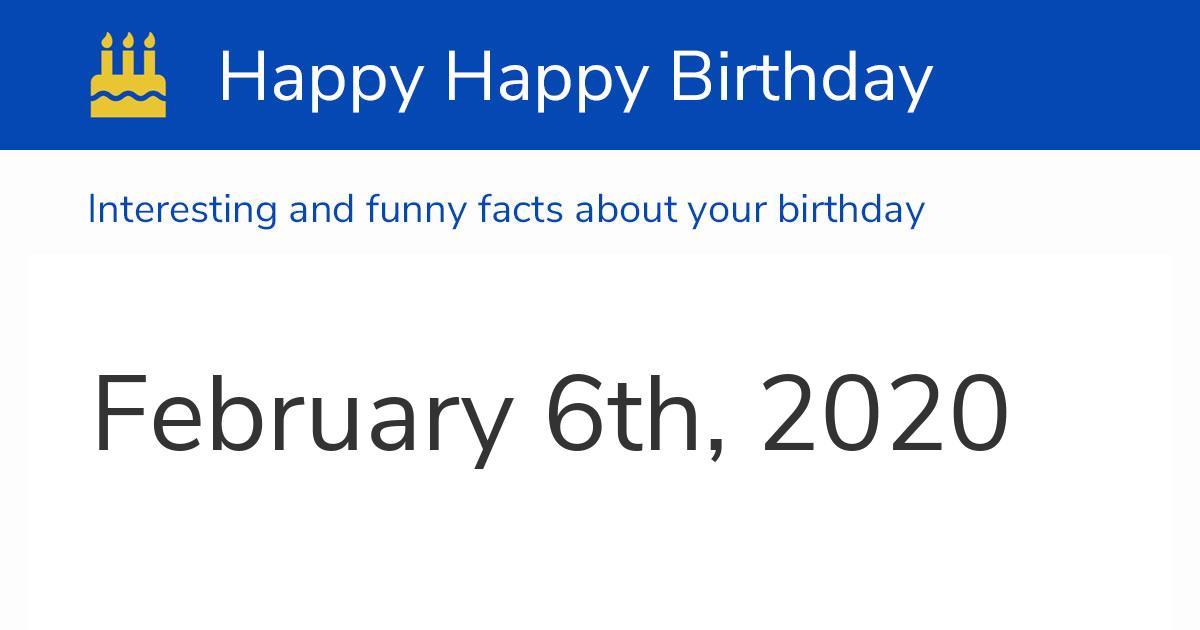 feb 6th 2020