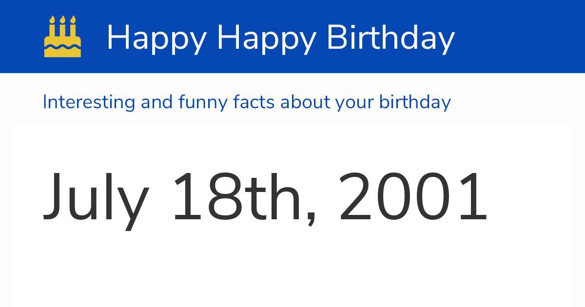 18 7 2001